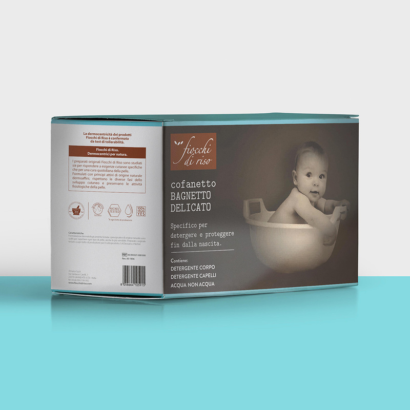 cofanetto BAGNETTO DELICATO detergente CORPO 200 ml | detergente CAPELLI 200 ml