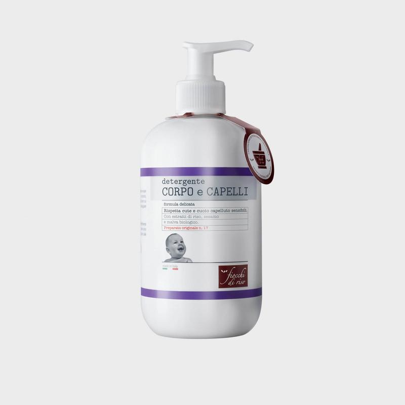 detergente CORPO E CAPELLI formula delicata