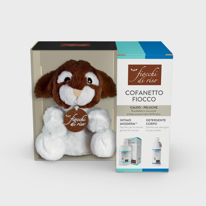 cofanetto FIOCCO intimo e corpo detergente intimo MIODERM 240 ml |  detergente CORPO 200 ml