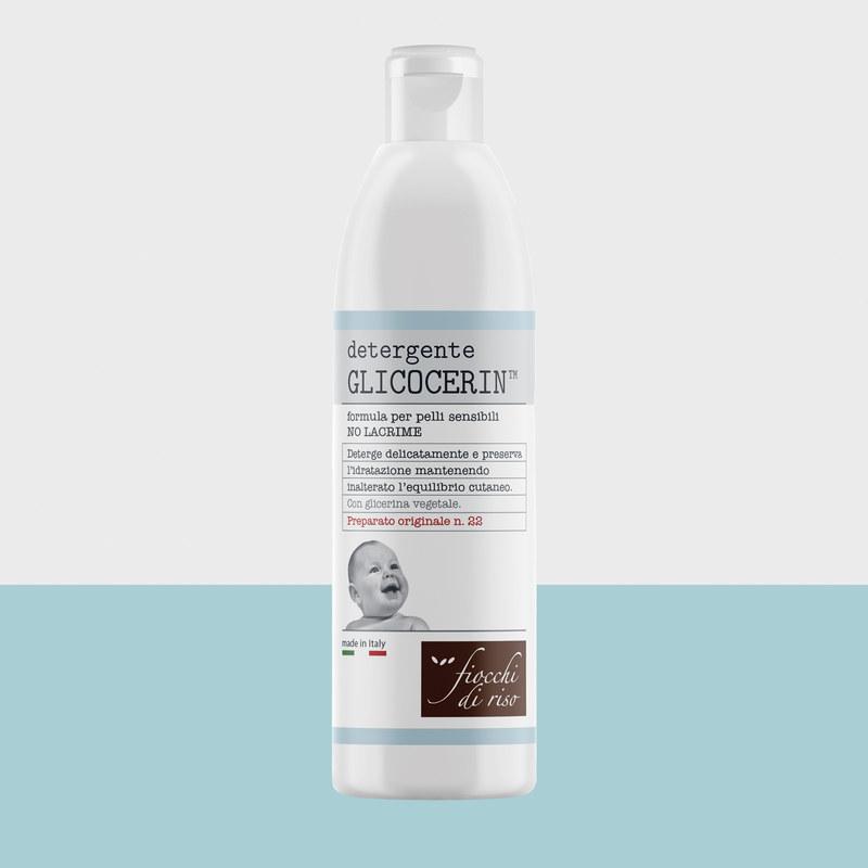 detergente GLICOCERIN formula per pelli sensibili NO LACRIME